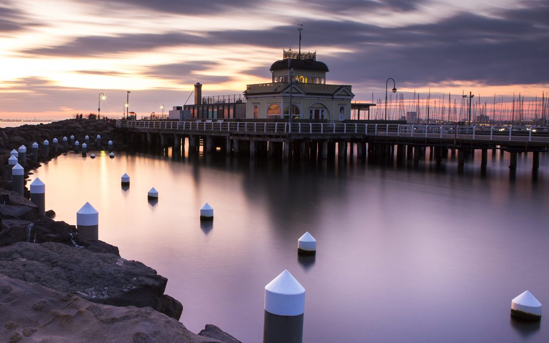 Sun Set At The Pier